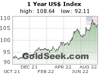 US$ Index 1 Year