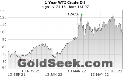 WTI Crude Oil 1 Year